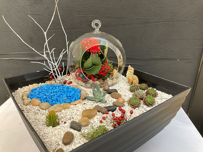 Sat Dec 19 2020 , Kid's Grab and Go Winter Landscape and Greenhouse Miniature Garden Kit, 201219001